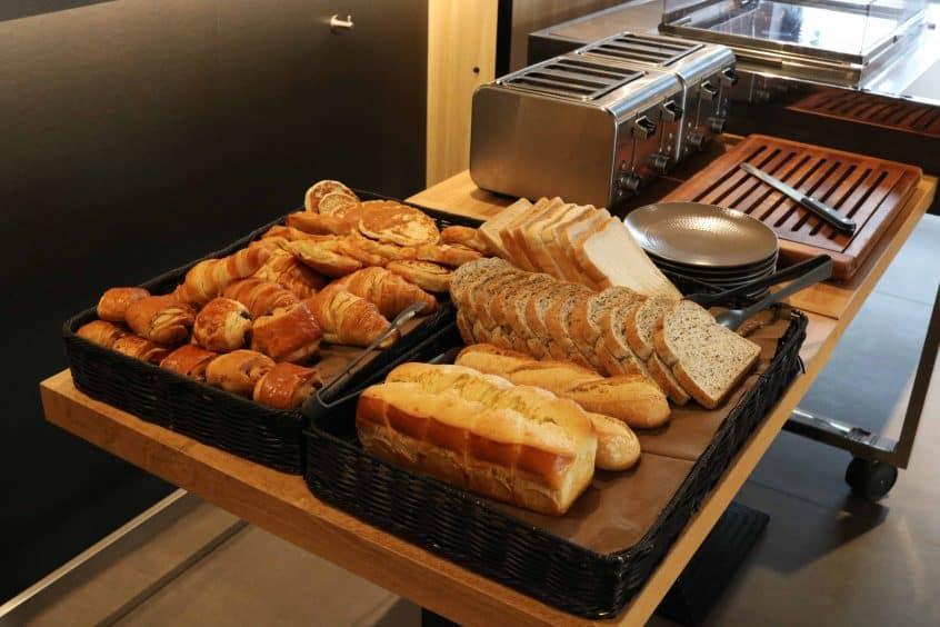 Campanile Birmingham breakfast pastries and bread