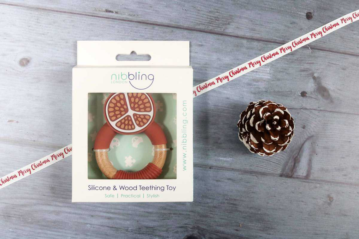 Silicone & Wood Superfoods Teething Toy