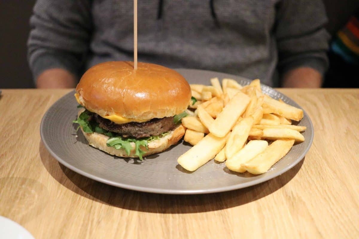 Campanile Birmingham burger and chips