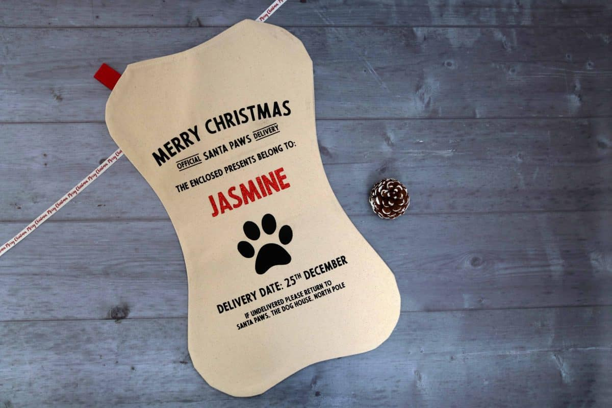 personalised pet stocking from Harrow & Green