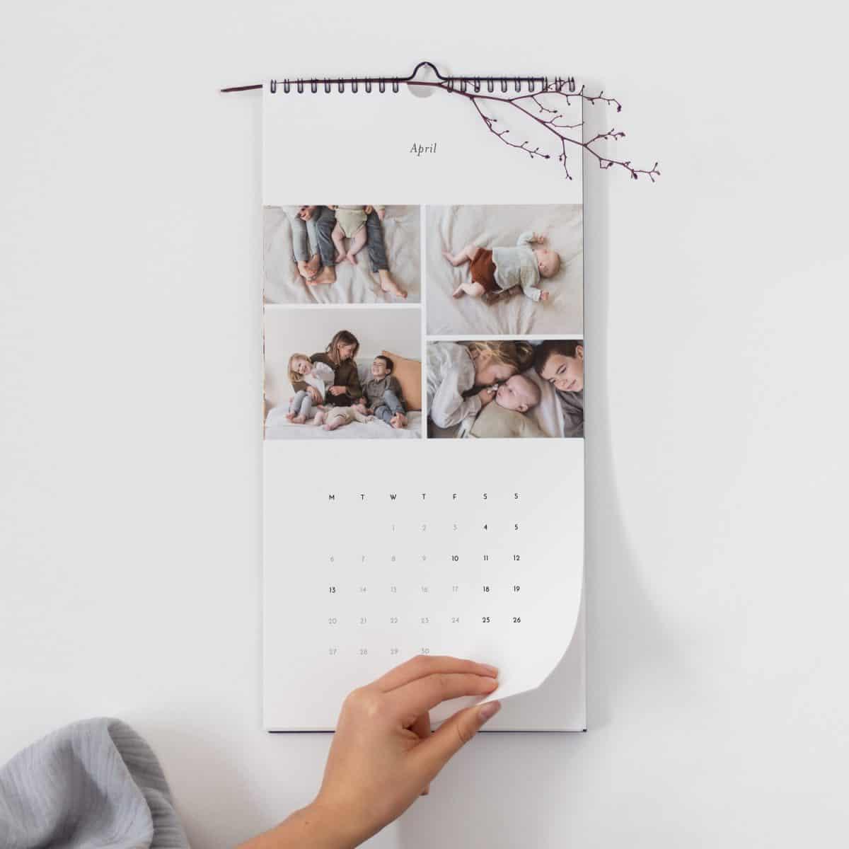 Rosemood personalised photo calendar