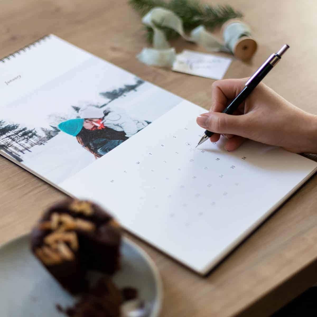 personalised photo calendar from Rosemood