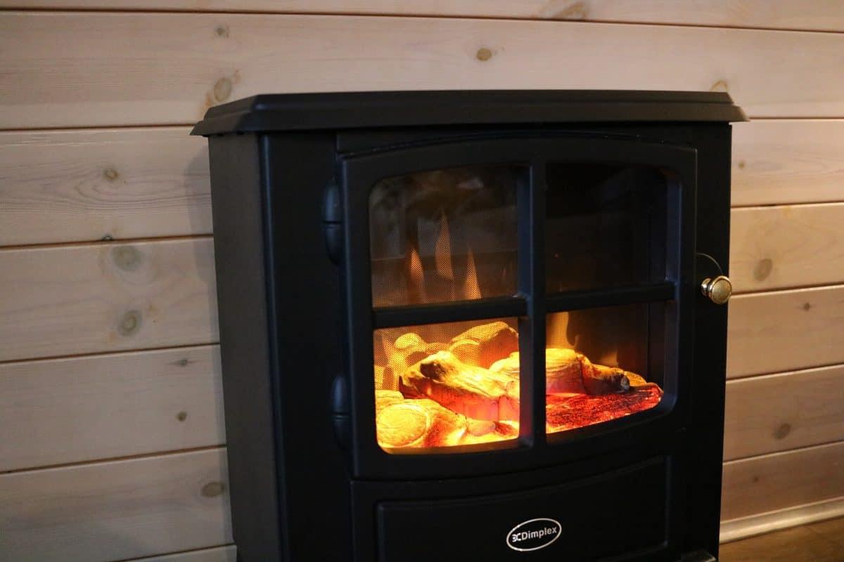 Landal Sandybrook electric fireplace