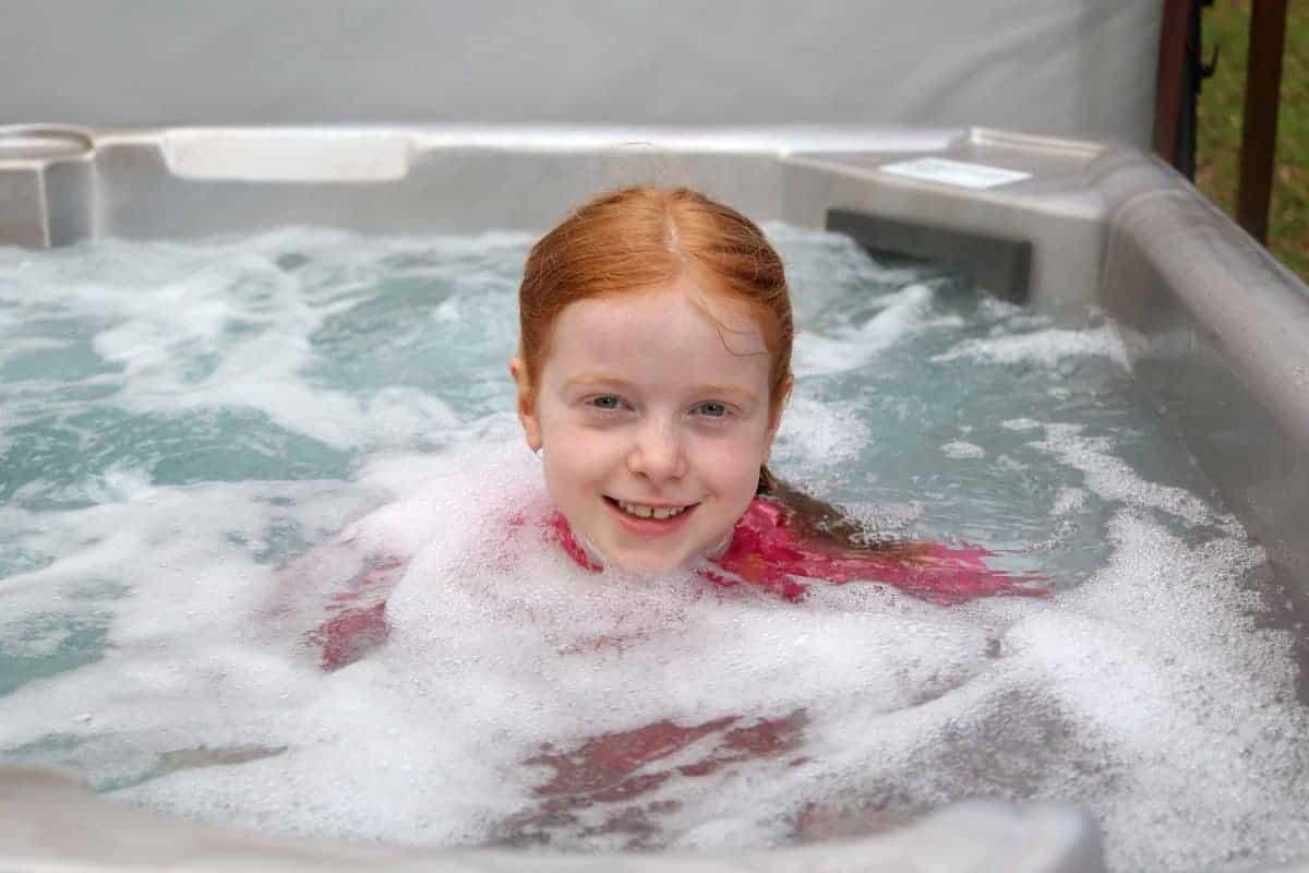 Enjoying the Landal Sandybrook Hot Tub
