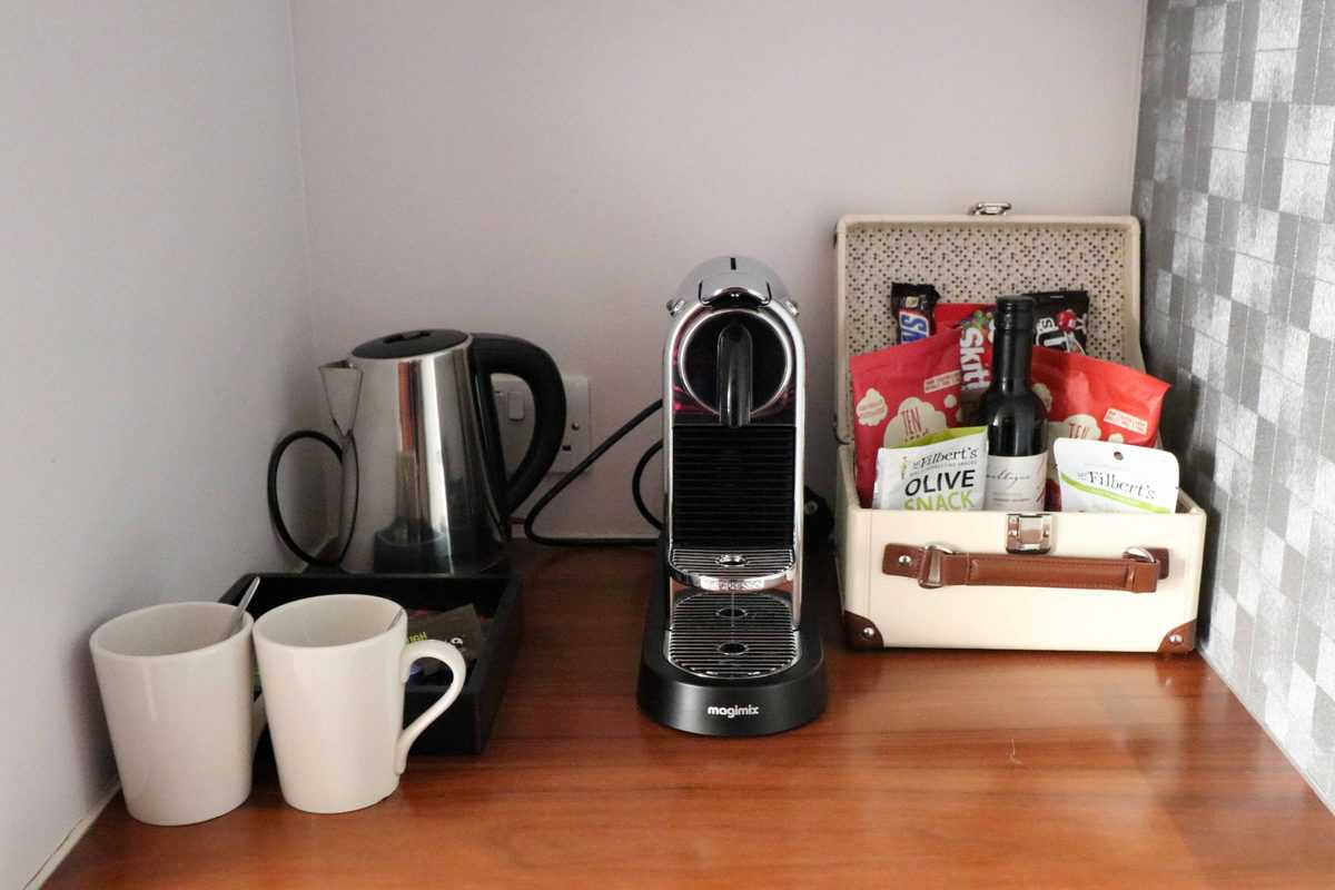 K West Hotel and Spa tea and coffee making facilities
