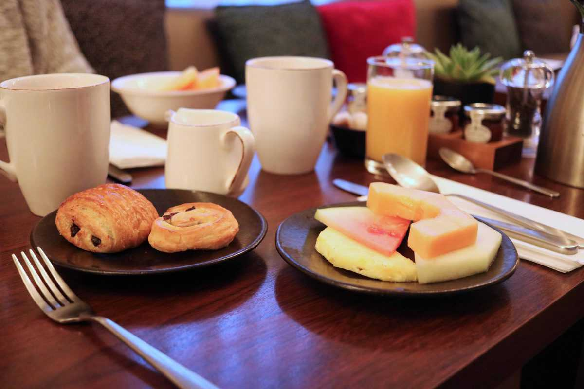 K West Hotel and Spa continental breakfast