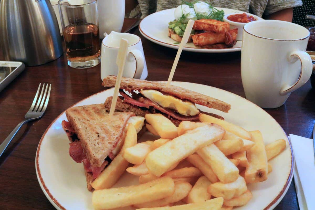 K West Hotel and Spa toasted sandwich and chips breakfast
