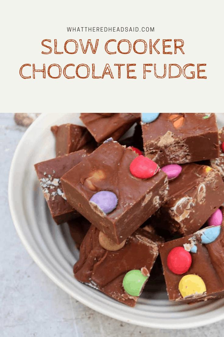 Slow Cooker Chocolate Fudge