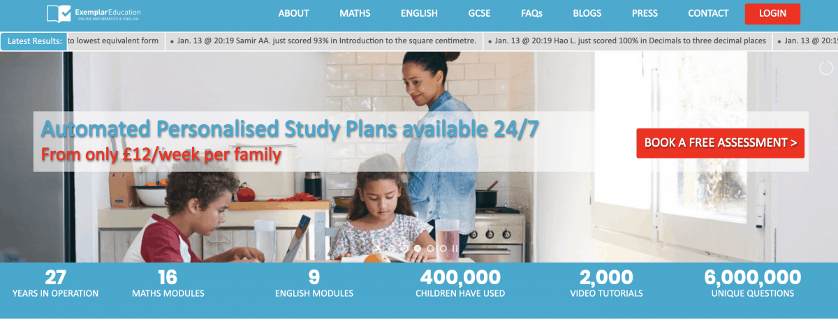 The Exemplar Education website