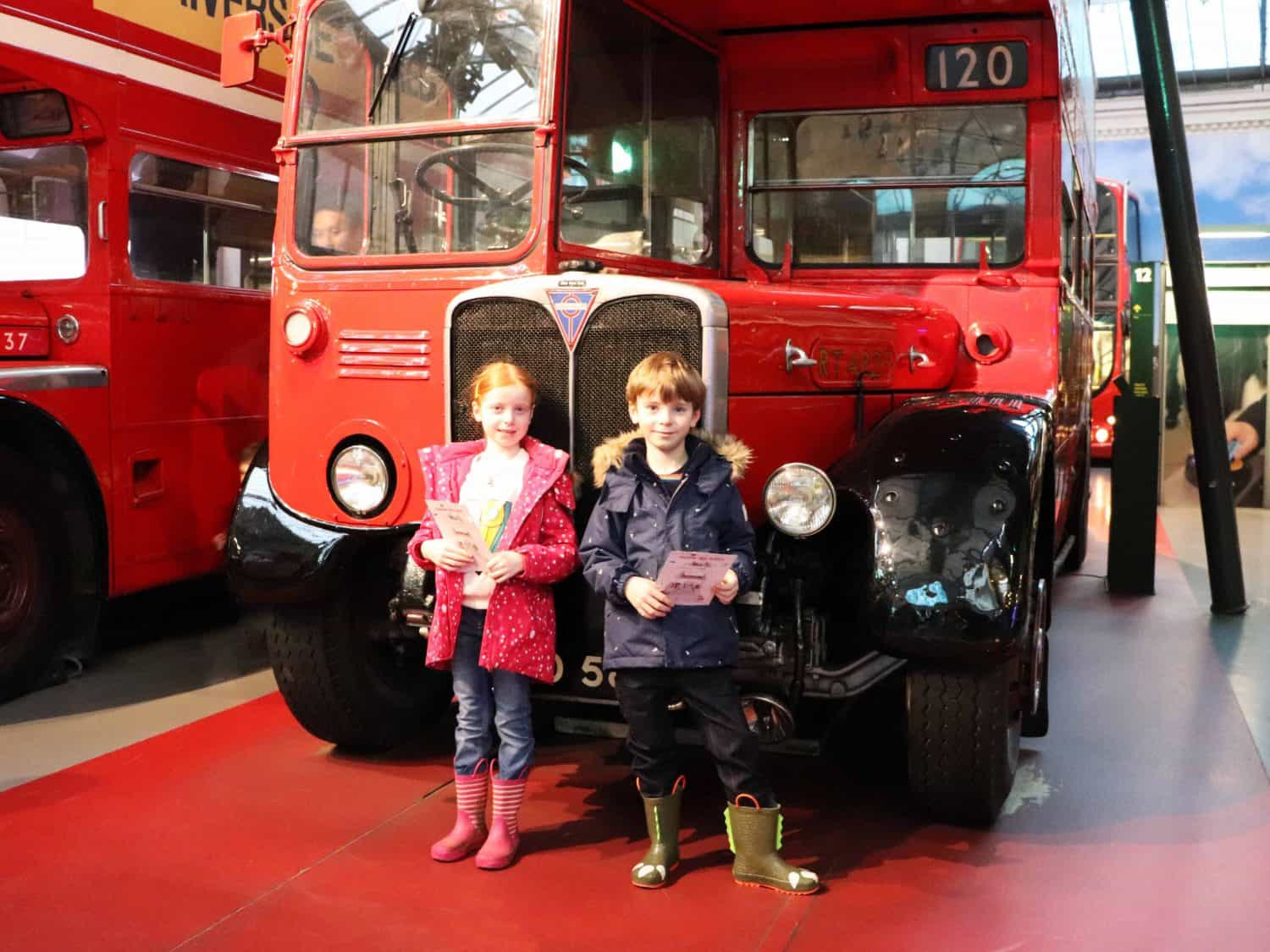 Our first visit to the London Transport Museum