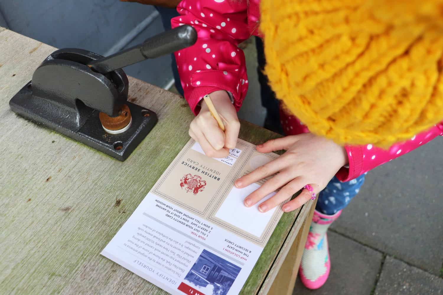 Completing the Bletchley Park activity pack