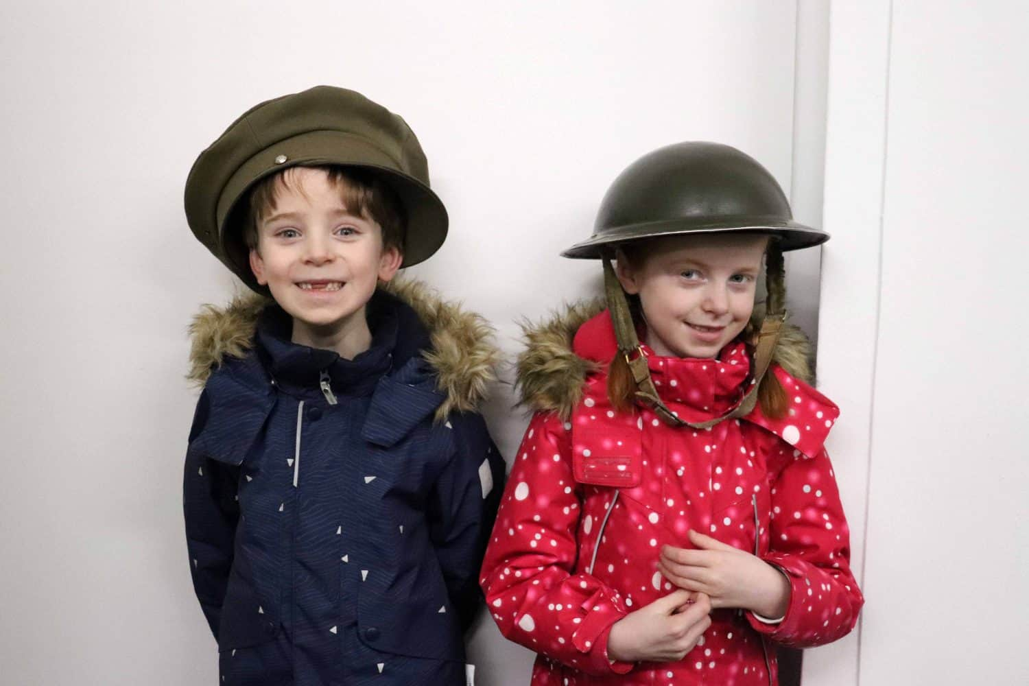 Trying on hats at Bletchley Park