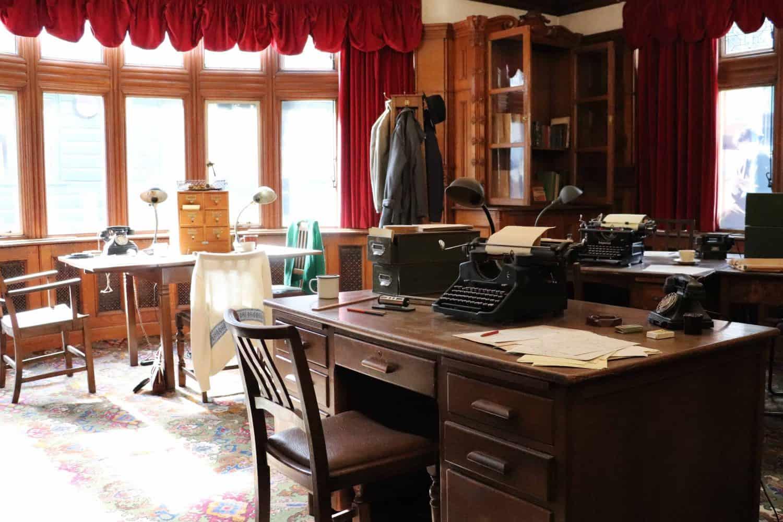Inside Bletchley Park manor house