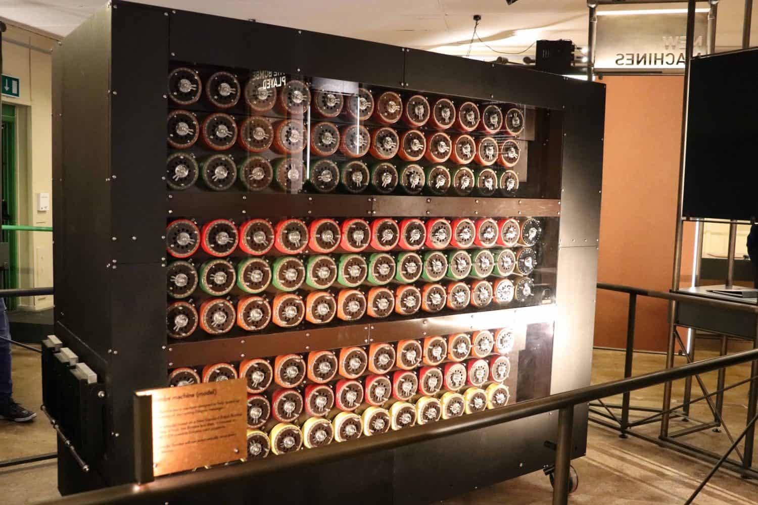 Bombe machine at Bletchley Park