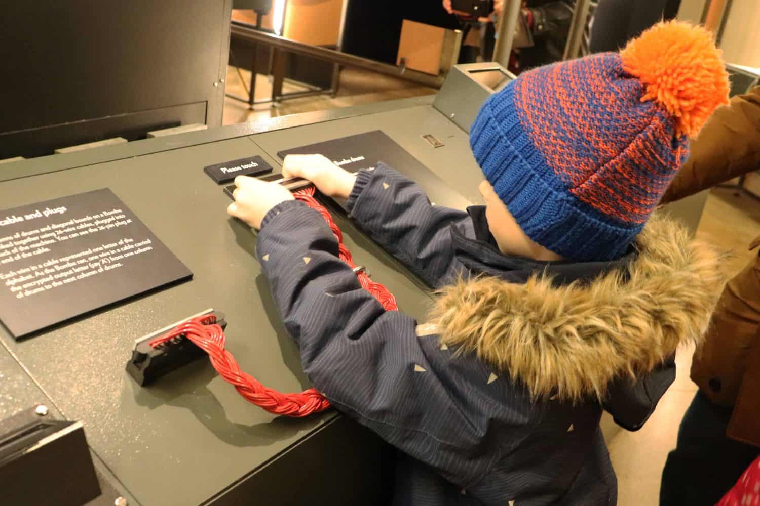 Interactive exhibits at Bletchley Park