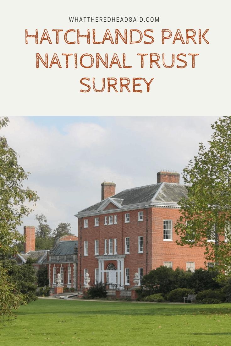 Hatchlands Park National Trust, Surrey