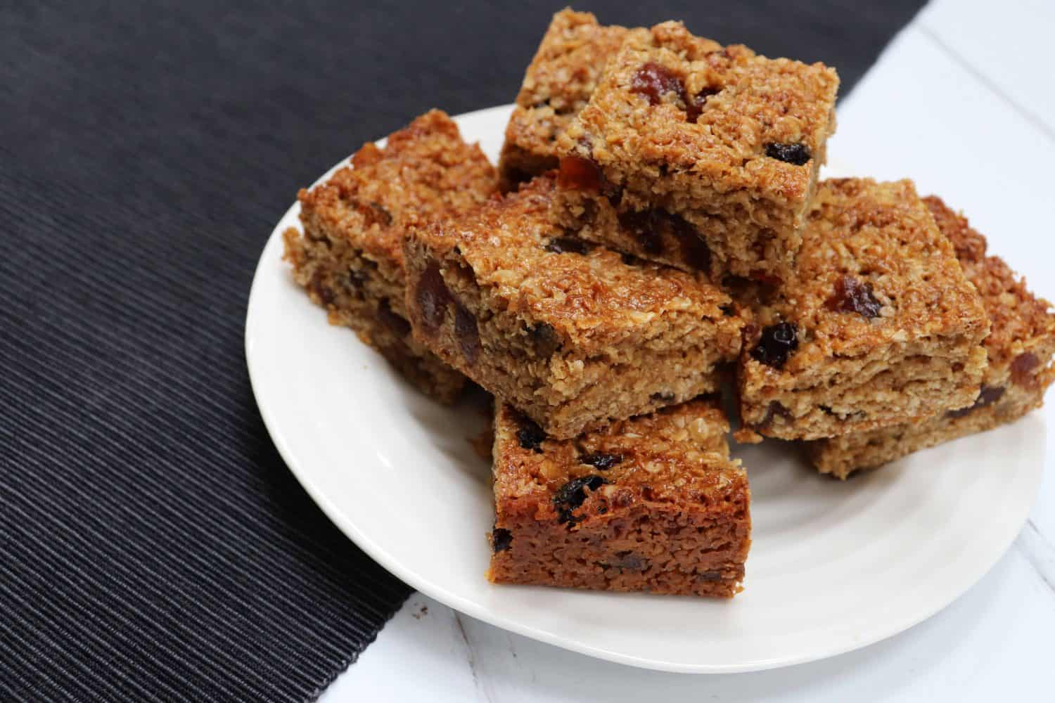 Mincemeat and Cherry Flapjacks