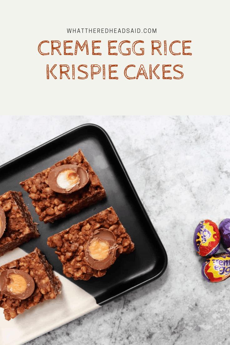 Creme Egg Rice Krispie Cakes