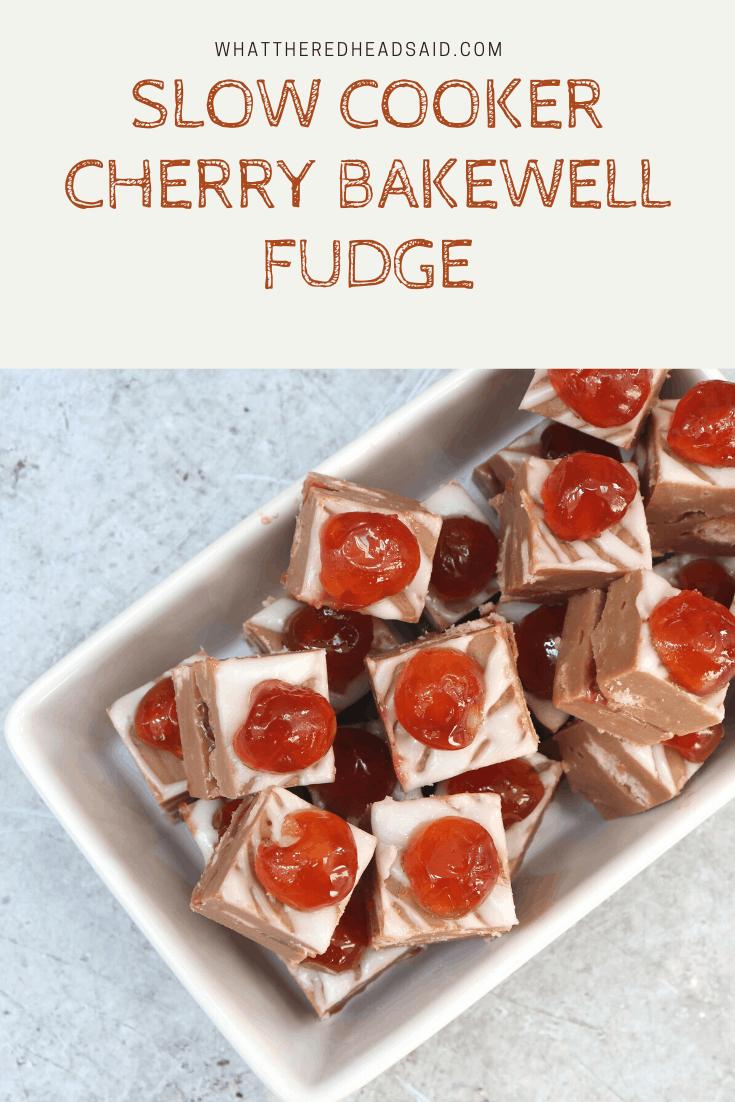 Slow Cooker Cherry Bakewell Fudge