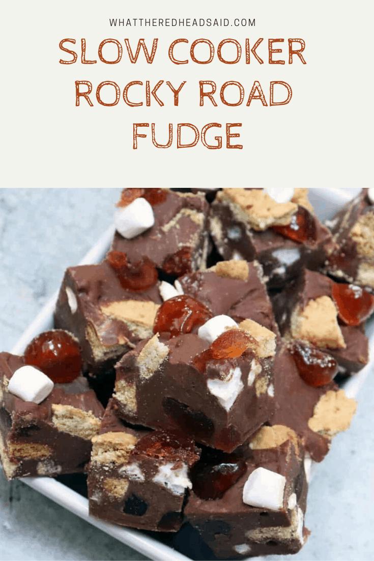 Slow Cooker Rocky Road Fudge