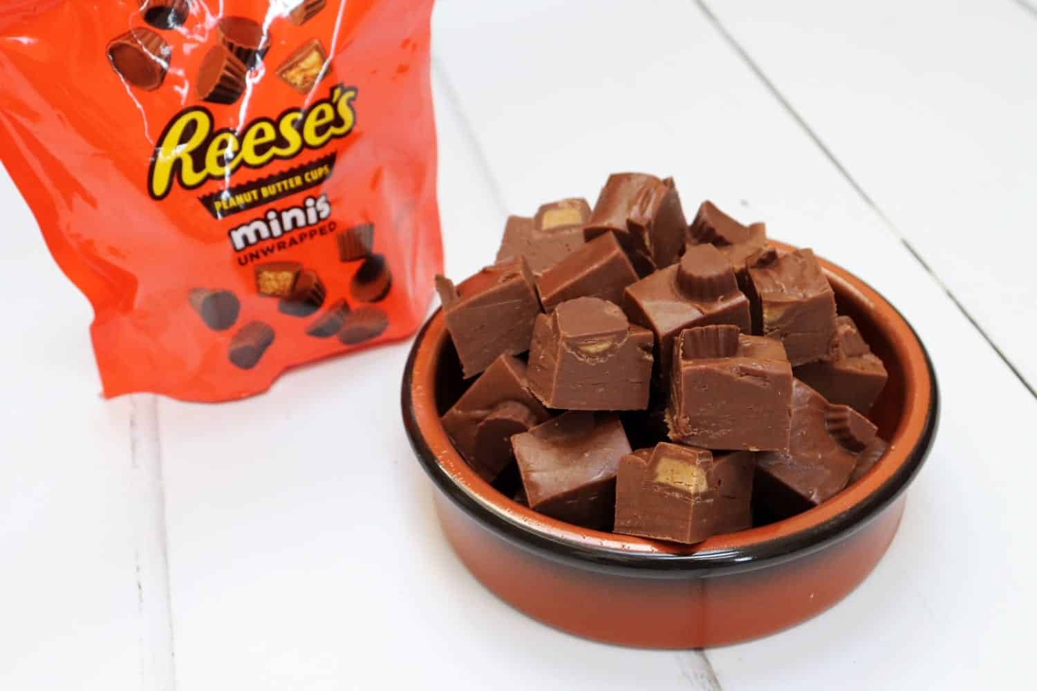 Slow Cooker Reese's Peanut Butter Cup Fudge