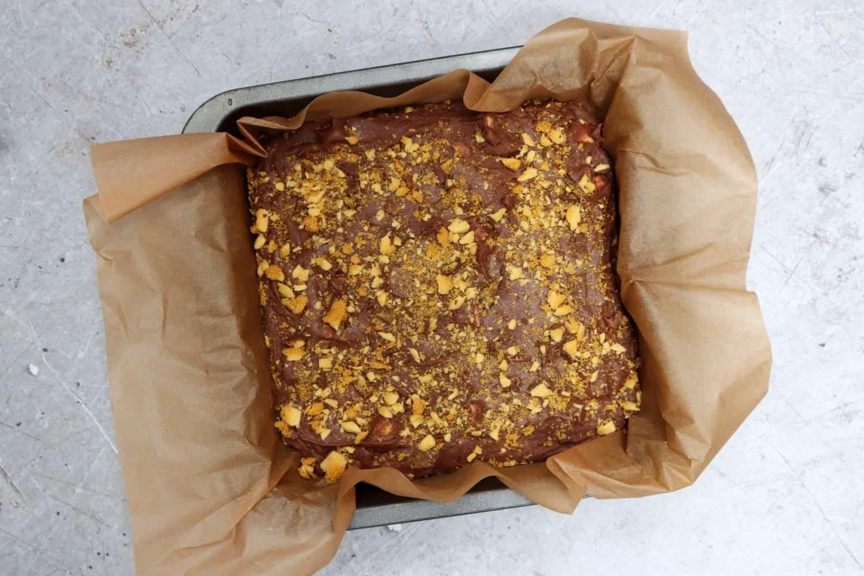 Slow Cooker Honeycomb Fudge recipe