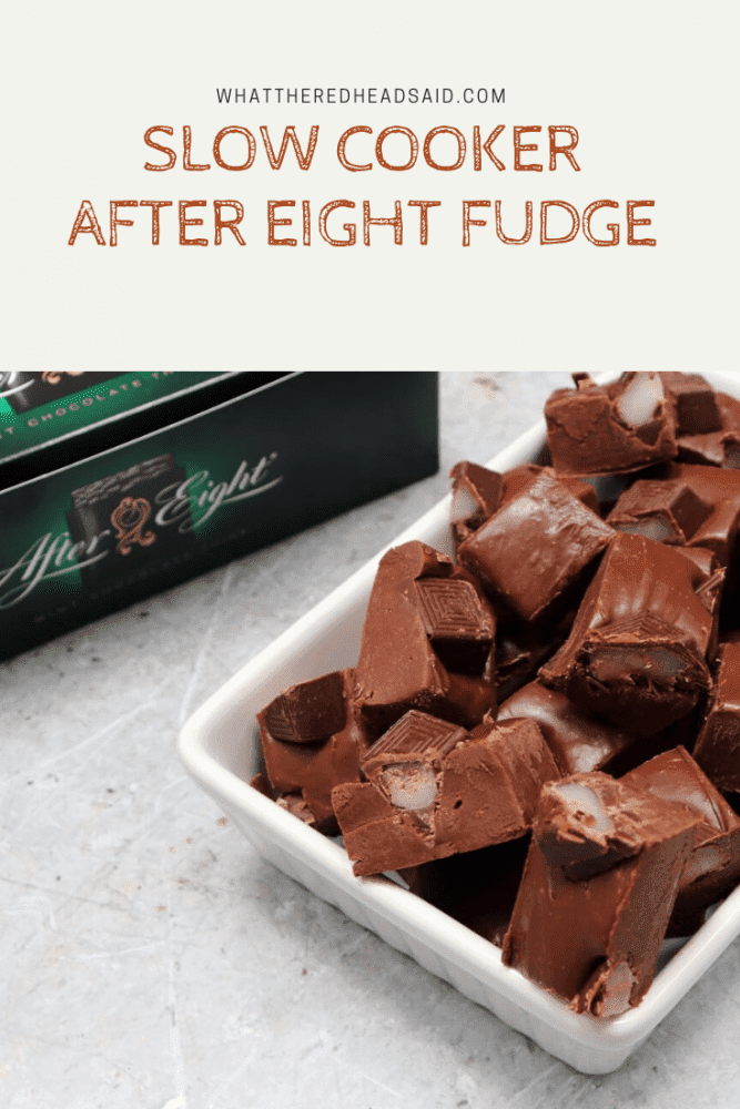 Slow Cooker After Eight Fudge