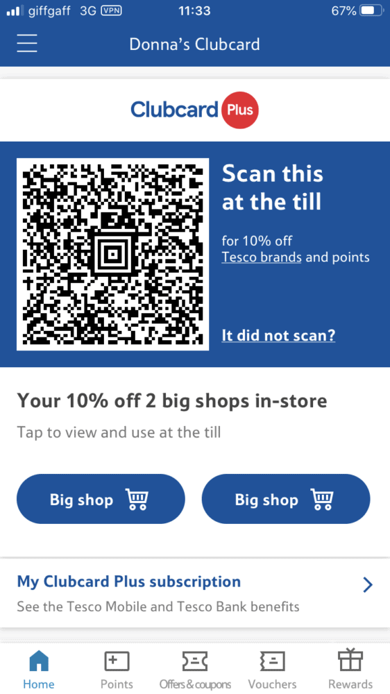 Subscribe and Save with Tesco Clubcard Plus