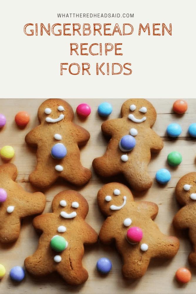 Simple Gingerbread Man Cookies Recipe for Kids