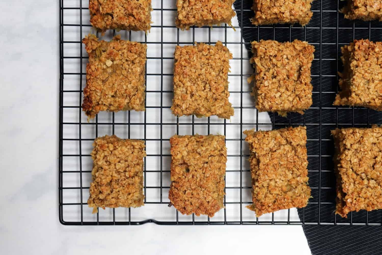 Our Super Easy Rhubarb Flapjack Recipe