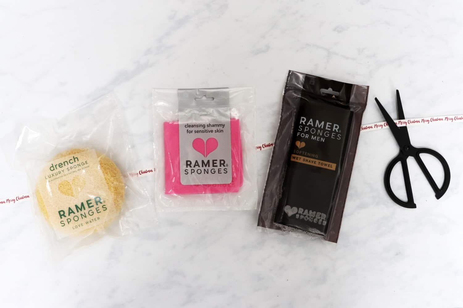 Ramer Sponges Drench Luxury Sponge, Cleansing Shammy and Wet Shave Towel