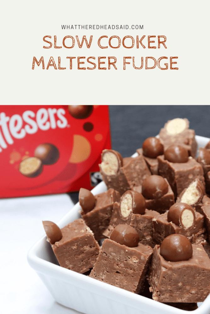 Slow Cooker Malteser Fudge