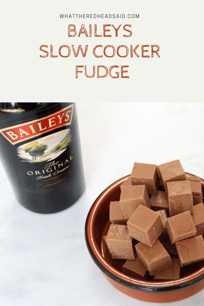 Baileys Slow Cooker Fudge