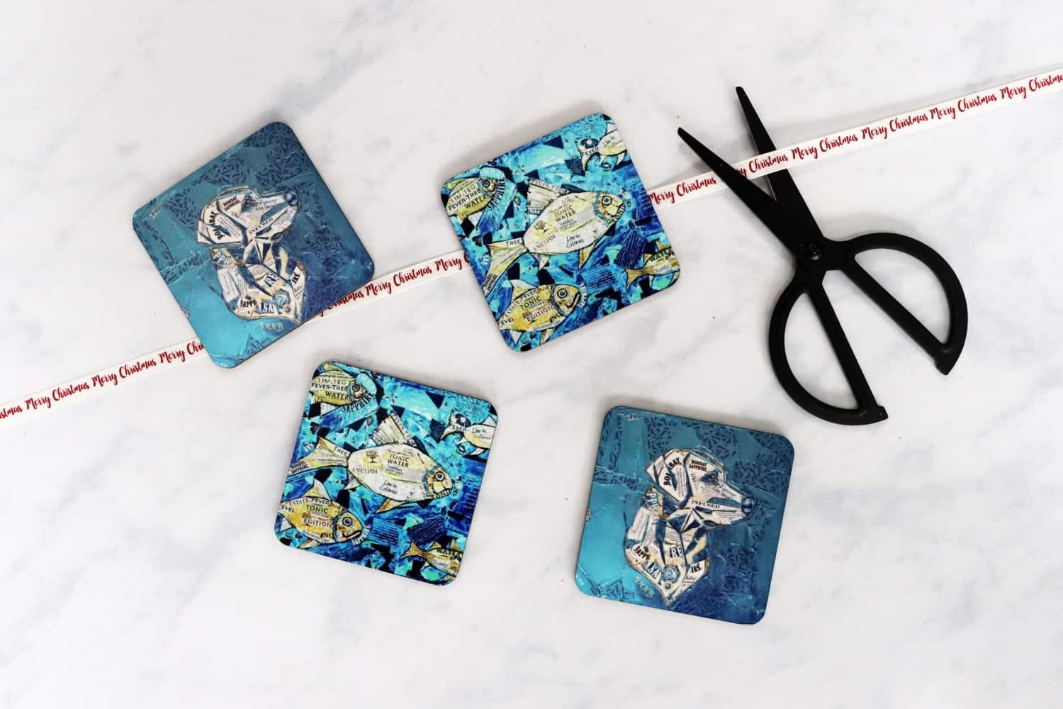 The Fin and Tonic and Bombay Sapphire Gin Lab Coasters