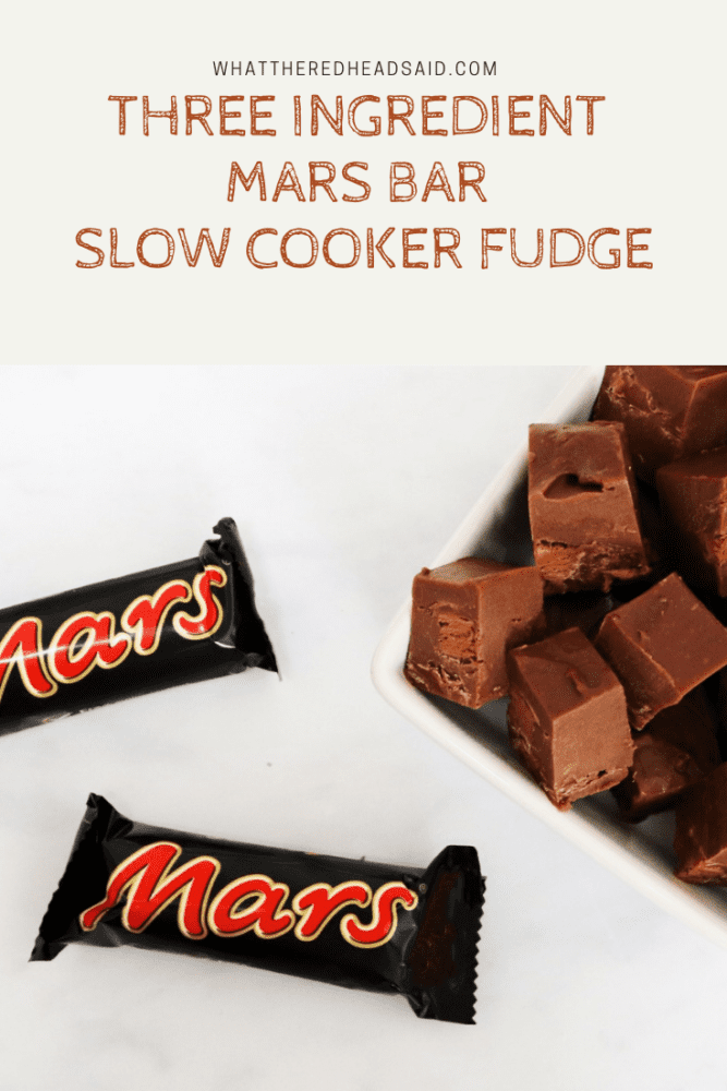 Three Ingredient Mars Bar Slow Cooker Fudge