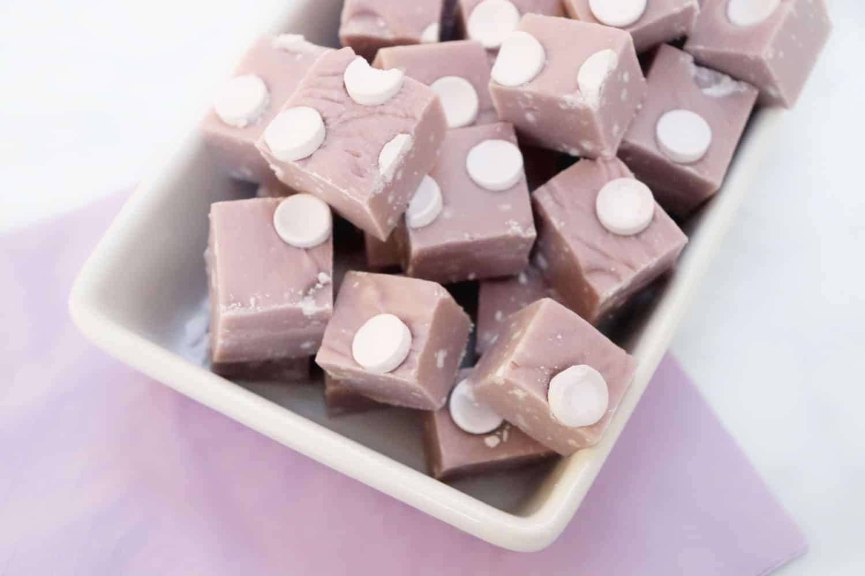Slow Cooker Parma Violet Fudge