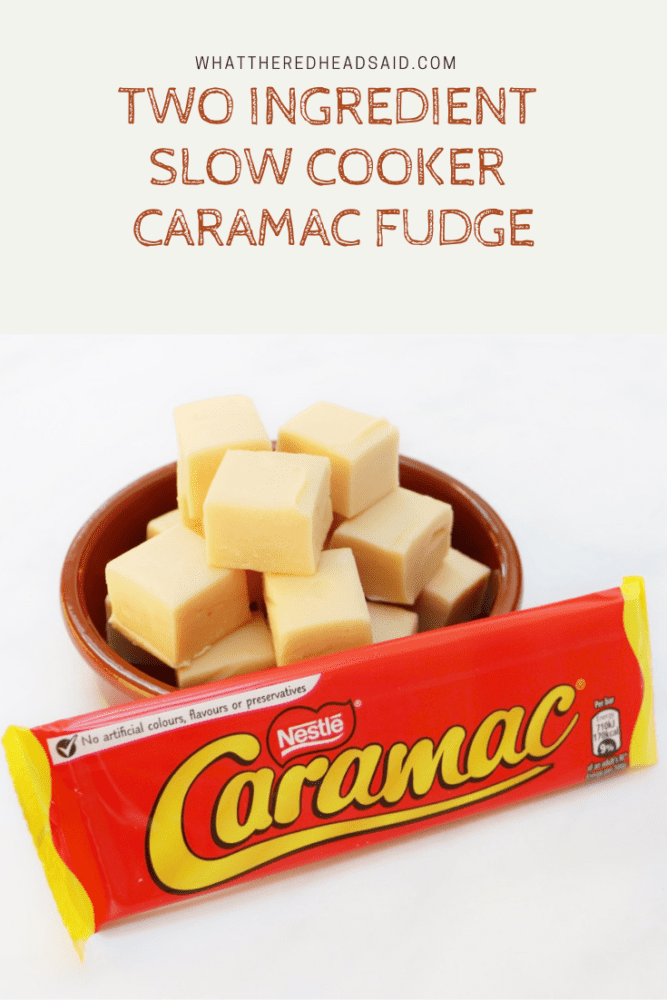 Two Ingredient Slow Cooker Caramac Fudge