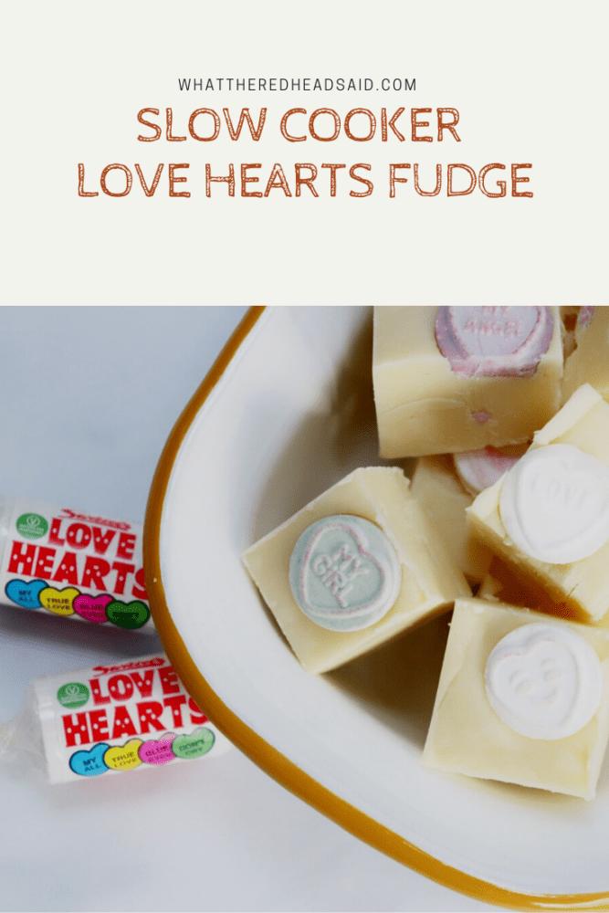 Slow Cooker Love Hearts Fudge