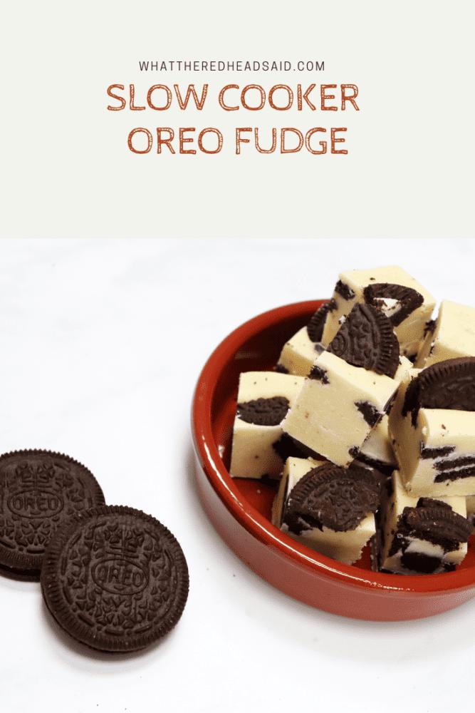 Slow Cooker Oreo Fudge