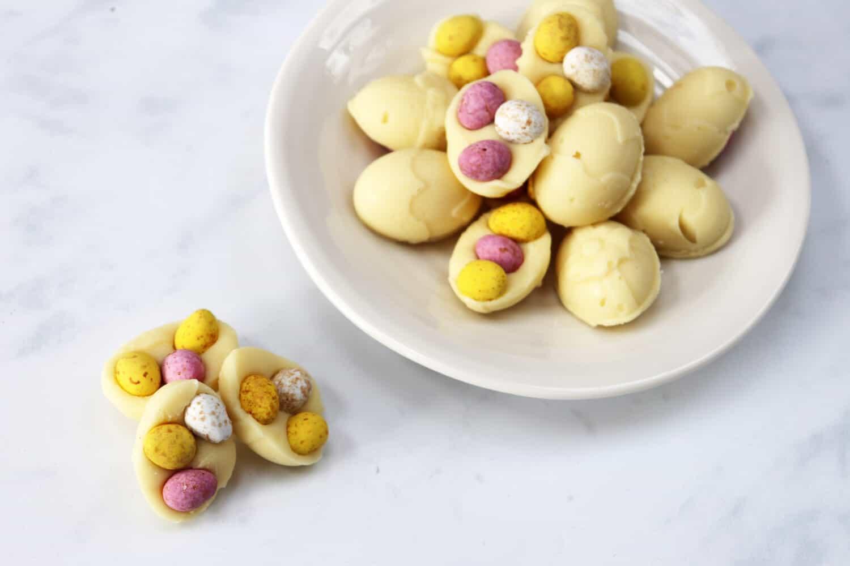 Slow Cooker Easter Egg Fudge Shapes