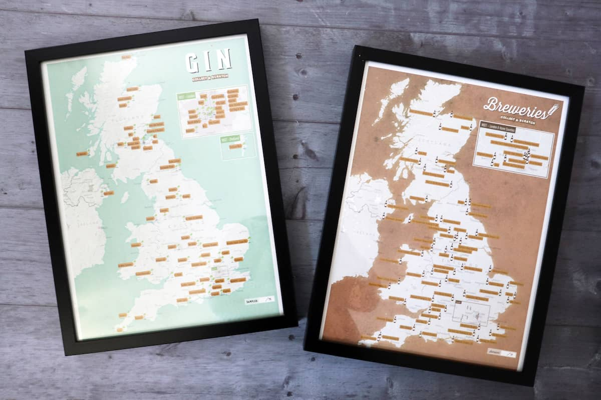 Father's Day Gift Guide - Maps International Scratch Map