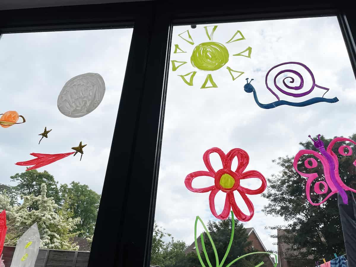 Decorating Windows with Chalkola