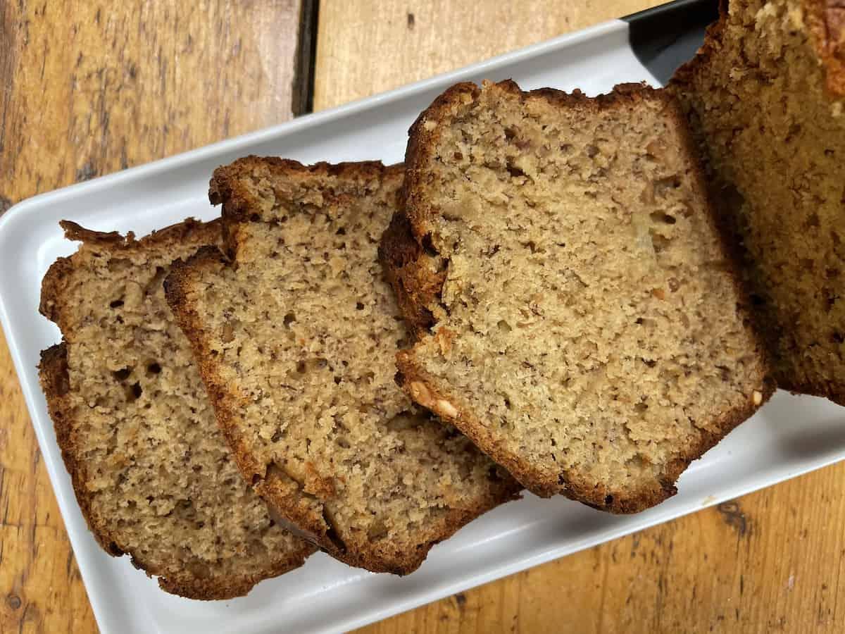 Peanut Butter Banana Loaf Cake