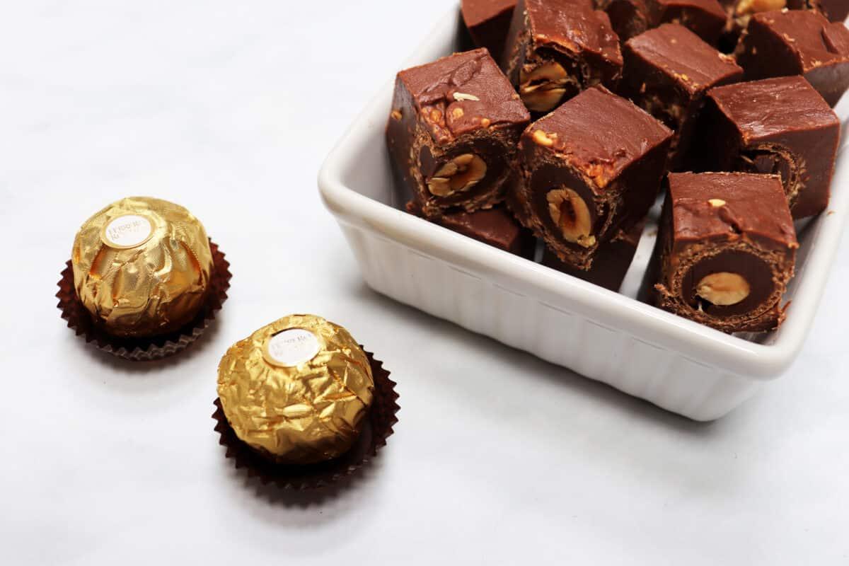 Ferrero Rocher Fudge