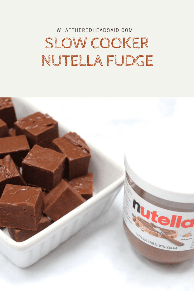 Slow Cooker Nutella Fudge