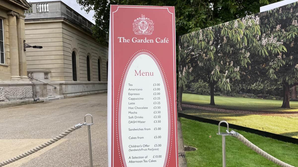 A Picnic at Buckingham Palace Garden - London - The Garden Cafe menu