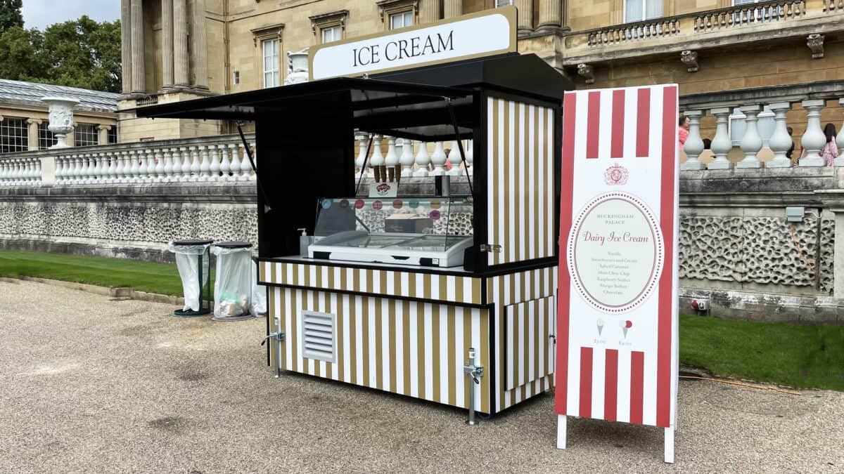 A Picnic at Buckingham Palace Garden - London - Ice Cream Menu
