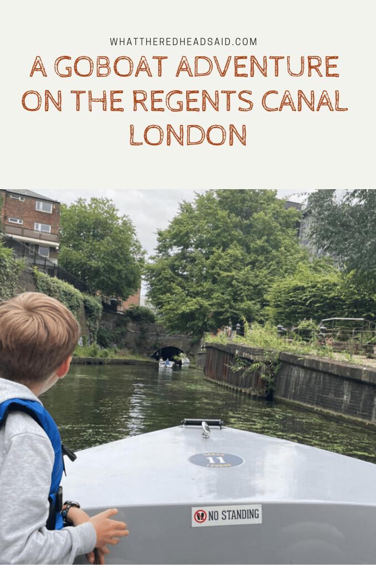 A GoBoat Adventure on the Regents Canal - Paddington, London